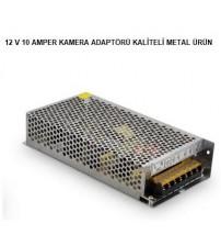 12V 10 Amper Adaptör Metal Kasa
