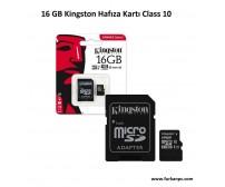 16 GB Kingston Hafıza Kartı Class 10
