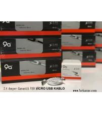 2.4 Amper Garantili V10 MİCRO USB KABLO