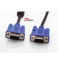 20 Metre Vga Kablo Lcd, Monitör, Projeksiyon İçin