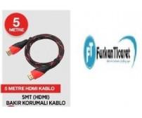 5 Metre Hdmı Kablo Hasır Örgülü
