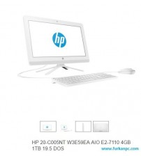 ALL İN ONE HP 20-C005NT W3E59EA AIO E2-7110 4GB 1TB 19.5 DOS