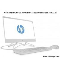 "All İn One HP 200 G3 3VA40EA04 i3-8130U 16GB 256 SSD 21.5"""