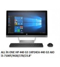 """ALL İN ONE HP 440 G3 1KP24EA 440 G3 AIO i3-7100T/4GB/1TB/23.8"""""""