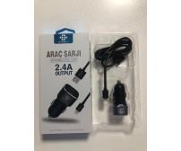 ARB-030 Arbaks Araç Şarj Aleti İos İphone 2.4 Amper Şimşek