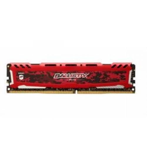 Ballistix 8GB 3000MHz DDR4 BLS8G4D30AESEK Soğutuculu, CL15, Red, 1.35V