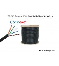 CC-610 Compaxe 305m Cat6 Kablo Siyah Dış Mekan