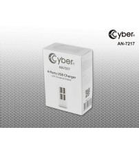 ÇOKLU ŞARJ CYBER AN-7217 4 USB GİRİŞLİ ADAPTÖR