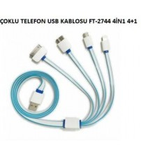 ÇOKLU TELEFON USB KABLOSU 4İN1 4+1