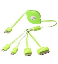 ÇOKLU TELEFON USB KABLOSU 4İN1 4+1 MAKARALI