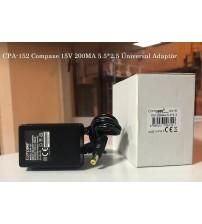 CPA-152 Compaxe 15V 200MA 5.5*2.5 Üniversal Adaptör