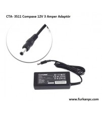 CTA- 3511 Compaxe 12V 3 Amper Adaptör  (5.5*2.5)