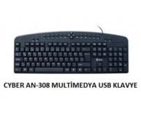 AN-308 Cyber Kablolu Klavye Multimedya