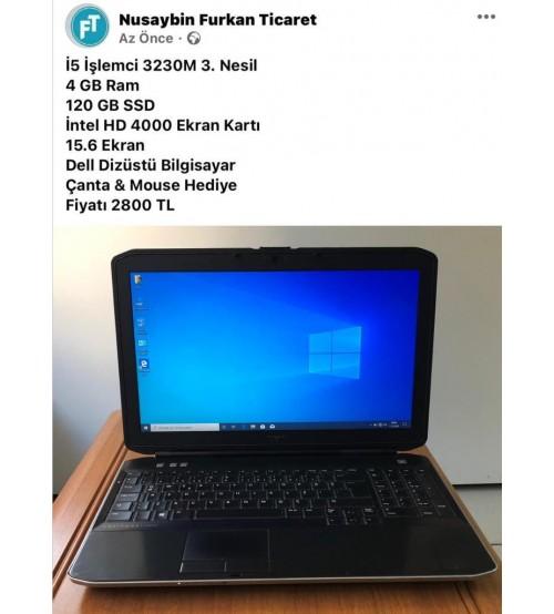 Dell 2. EL Laptop İ5-3230M 4GB 120 GB SSD 15.6