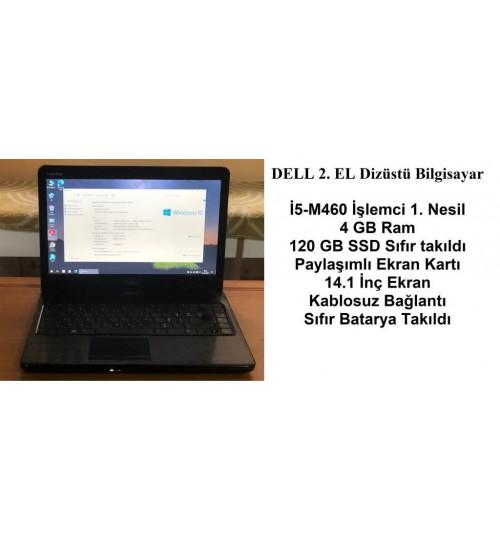 DELL 2. EL Laptop İntel İ5-M460 2,53 Ghz 4 GB Ram 120 GB SSD