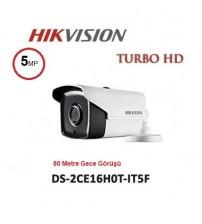 DS-2CE16H0T-IT5F Haıkon 80M 5MP Ahd Kamera Bullet 3,6mm