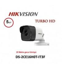 DS-2CE16H0T-ITPF Haıkon 20M 5MP Ahd Kamera Bullet 3,6mm