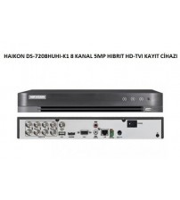 DS-7208HUHI-K1 Haıkon 8 Kanal 5MP Hybirt HD-TVI Kayıt Cihazı