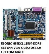 ESONIC H55KCL 1156P DDR3 SES LAN VGA SATA2 USB2.0 LPT COM MATX