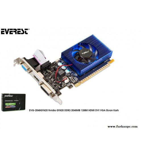 Everest EVG-2048GT420 Nvidia GeForce GT420 2GB 128Bit DDR3 (DX11) PCI-