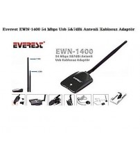 Everest EWN-1400 54 Mbps Usb 5&7dBi Wireless Adaptör
