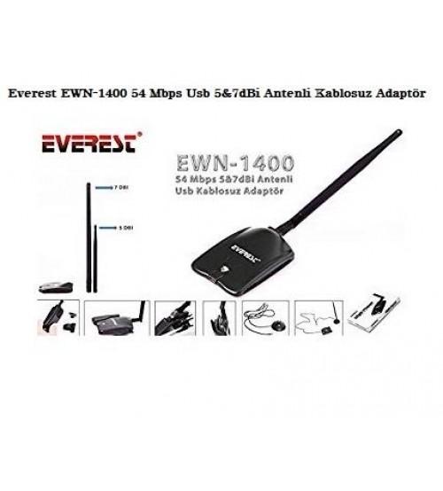 Everest EWN-1400 54 Mbps Usb 5&7dBi Wireless Adaptör