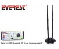 Everest EWN-906 300 Mbps Usb Çift Anten Kablosuz Adaptör
