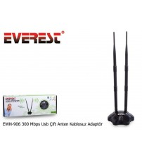 Everest EWN-906 300 Mbps Usb Çift Anten Wireless Adaptör