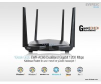 Everest EWR-AC66 802.11ac Dual-Band 1200Mbps Accesspoint