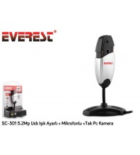 Everest SC-301 5.2 Mp Usb Işık Ayarlı + Mikrofonlu +Tak Pc Kamera