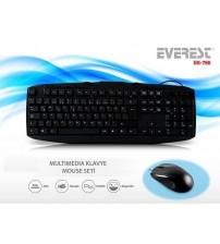 Everest UN-796 Kablolu Set Klavye & Mouse Set