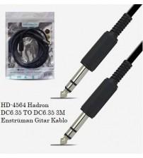 HD-4564 Hadron DC6.35 TO DC6.35 3M Enstrüman Gitar Kablo
