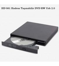 HD-981 Hadron Taşınabilir DVD-RW Usb 2.0