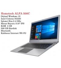 Hometech Alfa Laptop 500C İntel N3350 4GB Ram 500Gb 15.6 İnç