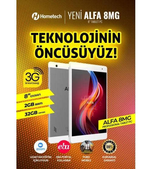 Hometech Alfa Pc Tablet 8 İnç 8MG 2GB 32GB Sim Kartlı