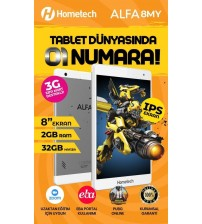 Hometech Alfa Pc Tablet 8 İnç 8MY 2GB 32GB Sim Kartlı