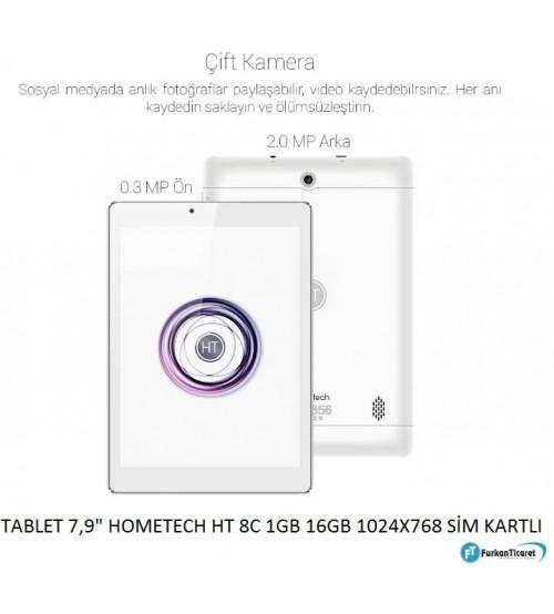 Hometech HT 8C 1GB 16GB 8 inç Sim Kartlı Tablet Pc