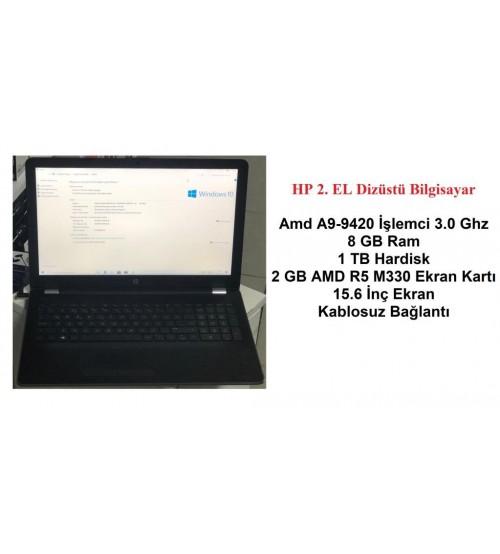 HP 2. EL Laptop AMD-A9-9420 3.0 8GB 1TB R5 M330 2GB VGA 15.6