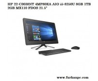 HP 22-C0038NT 4MP80EA AIO i5-8250U 8GB 1TB 2GB MX110 FDOS 21.5""