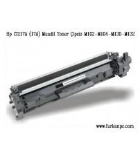 CF217A M130A M104 M132 M102A HP Muadil Toner Çipsiz