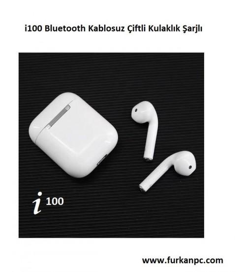 İ100 TWS Bluetooth Kablosuz Kulaklık Çiftli Şarjlı