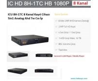 ICU 8H-1TC 8 Kanal Kayıt Cihazı 5in1 Analog Ahd Tvı Cvı İp