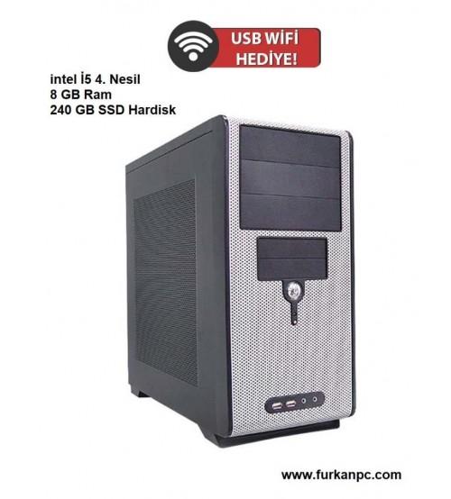 İntel i5 4.Nesil 8GB 240GB Masaüstü Bilgisayar