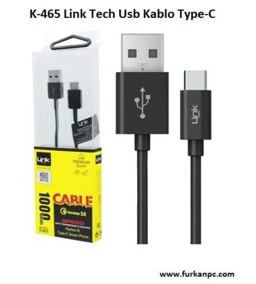 K-465 Link Tech Usb Kablo Type-C