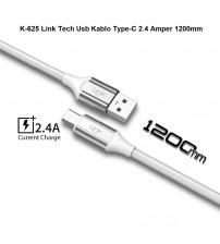 K-625 Link Tech Usb Kablo Type-C 2.4 Amper 1200mm