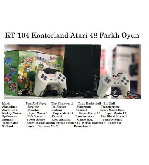 KT-104 Kontorland Atari 48 Farklı Oyun
