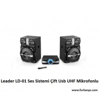 LD-01 Leader Ses Sistemi 2+1 Çift Usb UHF Mikrofonlu