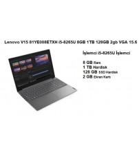 """Lenovo V15 81YE008ETXH i5-8265U 8GB 1TB 128GB 2gb VGA 15.6"""""""