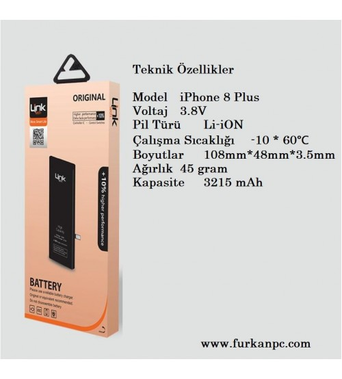 Link Tech Batarya İPhone 8 Plus 3150 mAh
