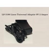 LS-3188 Lison Üniversal Adaptör 9V 2 Amper